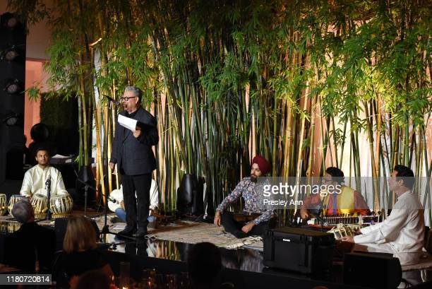 Larry Pittman speaks onstage during Hammer Museum's 17th Annual Gala In The Garden on October 12 2019 in Los Angeles California