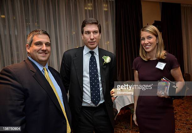 Larry Robbins chief executive officer of Glenview Capital Management from left Paul Taubman executive vice president and copresident of Institutional...