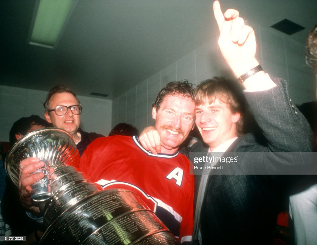 1986 Stanley Cup Finals - Game 5:  Montreal Canadiens v Calgary Flames : News Photo