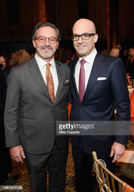 Larry Rosen and President and CEO of the ASPCA Matthew Bershadker attend the ASPCA Hosts 2018 Humane Awards Luncheon at Cipriani 42nd Street on...