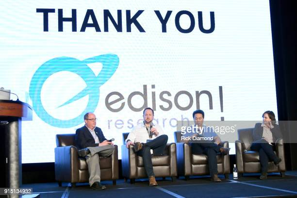 Larry Rosin President at Edison Research Ben Shepherd of Amazon Global Head of Alexa Music Johnny Chiang Operations Manager of KKBQFM and Megan...