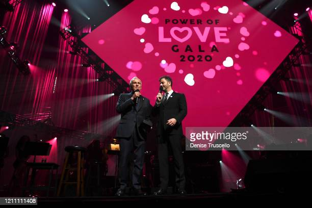 Larry Ruvo and Jimmy Kimmel speaks at the 24th annual Keep Memory Alive 'Power of Love Gala' benefit for the Cleveland Clinic Lou Ruvo Center for...