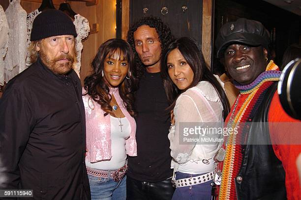 Larry Sands Vivica A Fox Richard Stark Laurie Lynn Stark and Moko attend CHROME HEARTS Party for ELLE Accessories Magazine hosted by Richard Laurie...