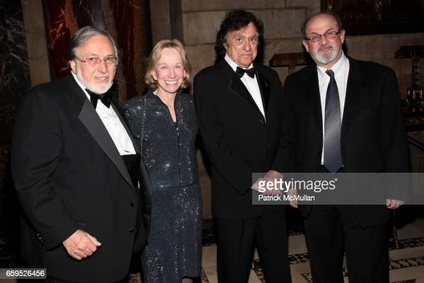 Larry Schiller Doris Kearns Goodwin Richard Goodwin and Salman Rushdie attend The First Annual NORMAN MAILER Writers Colony Benefit Gala at Cipriani...