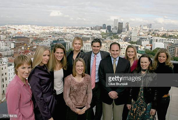 Larry Scott the WTA CEO and the eight singles players Amelie Mauresmo Svetlana Kuznetsova Elena Dementieva Justine Henin Hardenne Martina Hingis...