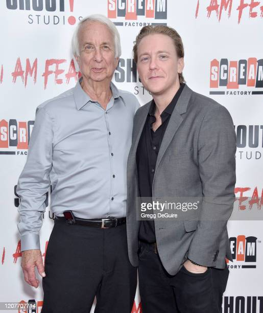 """Larry Shulman and Kevin Shulman attend the Los Angeles Premiere of Roxwell Films """"I Am Fear"""" at Laemmle Monica Film Center on February 20 2020 in..."""