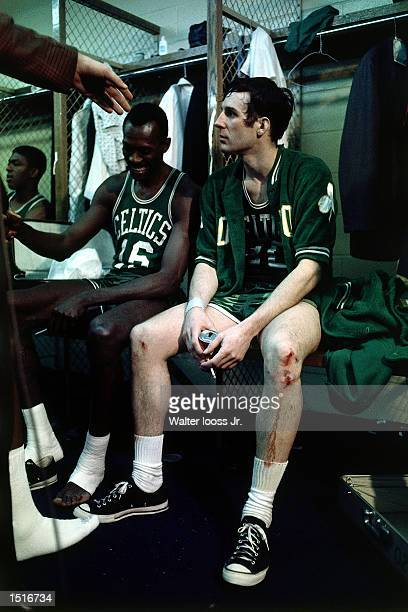 Larry Siegfried of the Boston Celtics in the locker room after an NBA game NOTE TO USER User expressly acknowledges and agrees that by downloading...