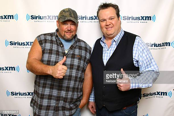 Larry the Cable Guy and Eric Stonestreet visit the SiriusXM Studio on November 15 2011 in New York City
