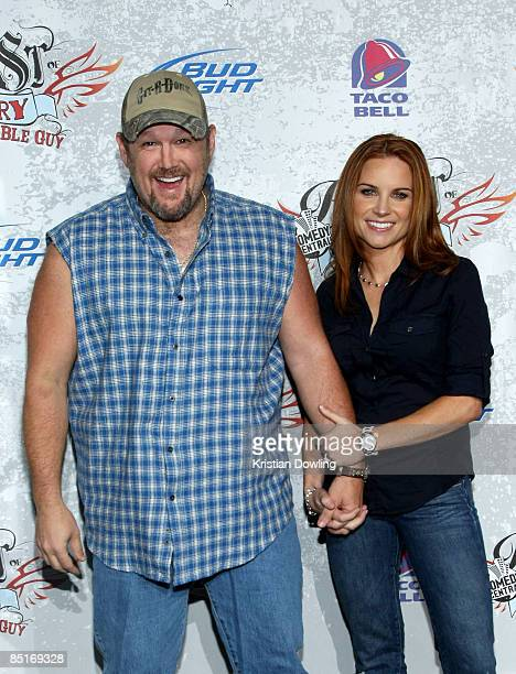 Larry The Cable Guy and wife Cara Whitney arrive for the Comedy Central Roast Of Larry The Cable Guy at the Warner Brother Studio Lot on March 1 2009...