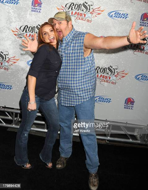 Larry The Cable Guy and wife Cara Whitney attend Comedy Central's Roast of Larry the Cable Guy held at The Warner Brothers Studio Lot on March 1 2009...