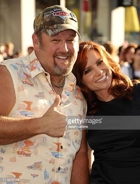 Larry the Cable Guy and wife Cara Whitney attend the premiere of Disney/Pixar's Cars 2 at the El Capitan Theatre on June 18 2011 in Hollywood...