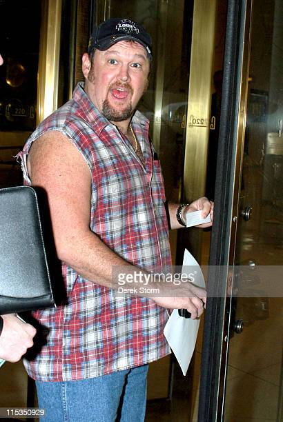 Larry the Cable Guy during Larry The Cable Guy Arrives at The WB11 Morning News Studios at WB11 Morning News Studios in New York City New York United...