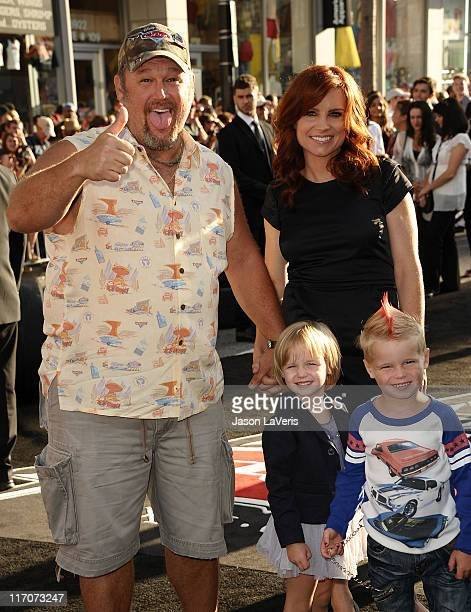 Larry the Cable Guy wife Cara Whitney and children Reagan Whitney and Wyatt Whitney attend the premiere of Disney/Pixar's Cars 2 at the El Capitan...