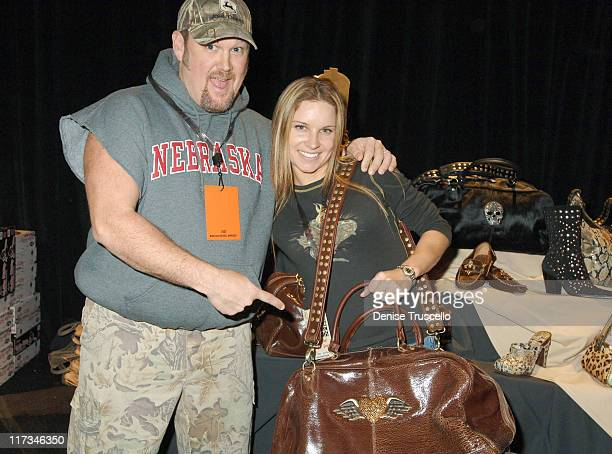 Larry the Cable Guy with wife Cara during The Flavia Fusion Retreat by Backstage Creations at the 2005 Billboard Music Awards Day 2 at MGM in Las...