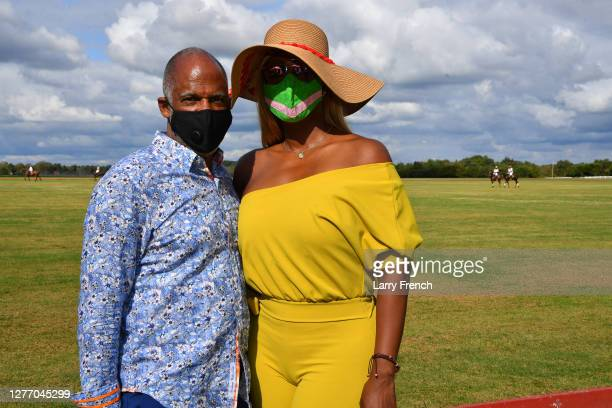 Larry True and Dee Sykes are seen at Grandiosity Events 4th annual Polo & Jazz celebrity charity benefit hosted by Real Housewives of Potomac's Karen...