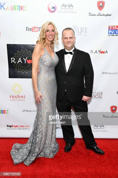 Larry Vas and Tresa Vas attend RAYWA Presents TIA at The Pierre Hotel on November 16 2018 in New York City