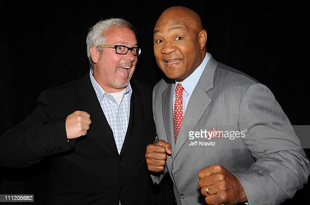 Larry W Jones and former boxing champion George Foreman during the 2008 Summer Television Critics Association Press Tour for MTVN held at the Beverly...