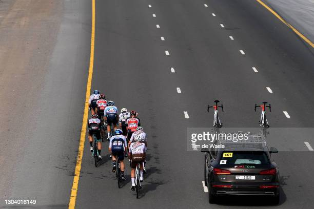 Larry Warbasse of The United States and AG2R Citroën Team, Roger Kluge of Germany and Team Lotto Soudal, Lasse Norman Hansen of Denmark and Team...