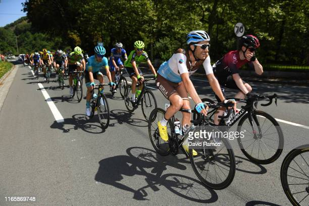 Larry Warbasse of The United States and Team AG2R La Mondiale / Eddie Dunbar of Ireland and Team INEOS / Peloton / during the 39th Clásica Ciclista...