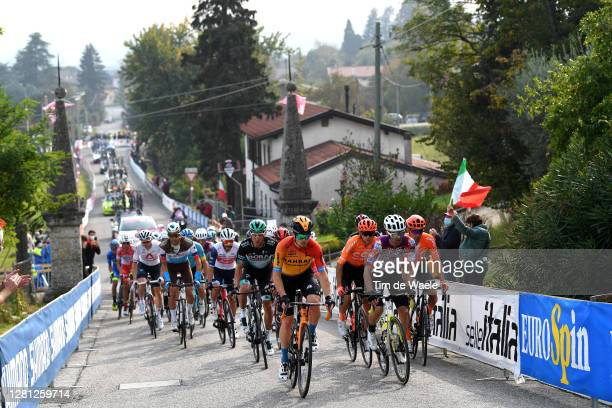 Larry Warbasse of The United States and Team Ag2R La Mondiale / Julien Bernard of France and Team Trek - Segafredo / Stefano Oldani of Italy and Team...