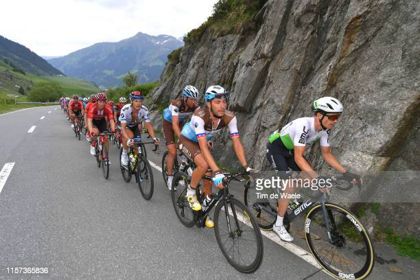 Larry Warbasse of The United States and Team AG2R La Mondiale / Benjamin King of The United States and Team Dimension Data / Peloton / during the...