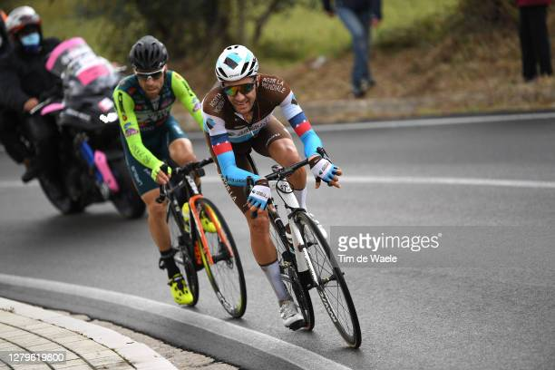 Larry Warbasse of The United States and Team Ag2R La Mondiale / Giovanni Visconti of Italy and Team Vini Zabu KTM / Breakaway / during the 103rd Giro...