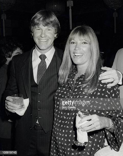 Larry Wilcox and Hannie Strasser during Erik Estrada's Surprise Birthday Party March 7 1981 at Madame Wu's Restaurant in Beverly Hills California...
