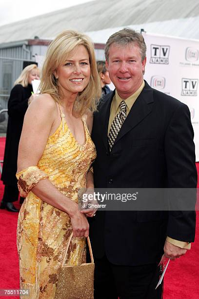 Larry Wilcox and wife Marlene Harmon at the Barker Hangar in Santa Monica California