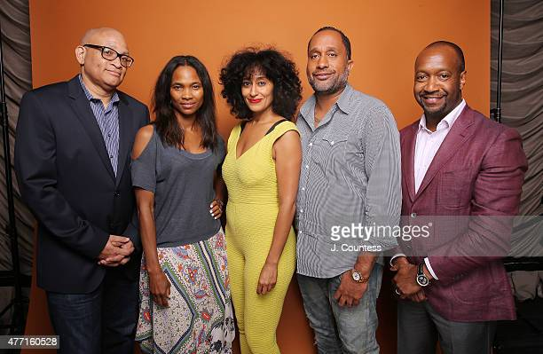 Larry Wilmore Nicole Friday actress Tracee Ellis Ross writer Kenya Barris and Founder of the American Black Film Festival Jeff Friday attend the 2015...
