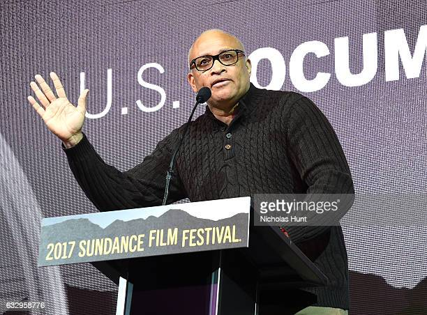 Larry Wilmore speaks during the 2017 Sundance Film Festival Awards Night Ceremony at Basin Recreation Field House on January 28 2017 in Park City Utah