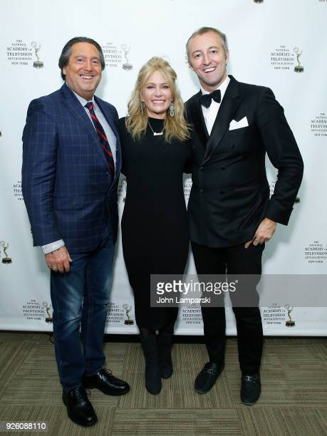 Larry Wohl Leesa Rowland and Prince MarioMax Schaumburg attend as Prince MarioMax Schaumburg Lippe hosts Le Caviar Royale reception on March 1 2018...