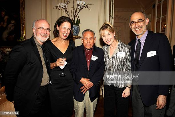 Larry Yurman Deb Lapidus Maurice Kanbar Janet Zarish and Victor Pappas attend MICHELE and LAWRENCE HERBERT Kickoff Party For The NYU Tisch School of...