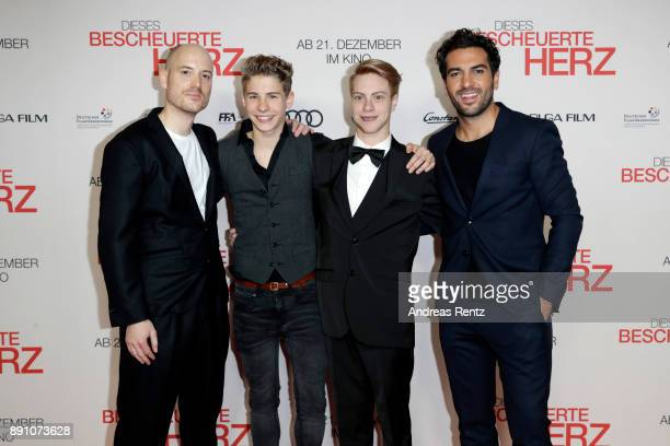 Lars Amend Philip Noah Schwarz Daniel Meyer and Elyas M'Barek attend the 'Dieses bescheuerte Herz' premiere on December 12 2017 in Berlin Germany