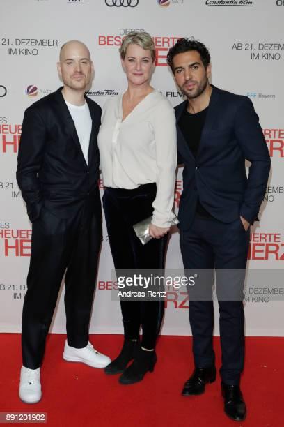Lars Amend Viola Jaeger and Elyas M'Barek during the 'Dieses bescheuerte Herz' premiere on December 12 2017 in Berlin Germany