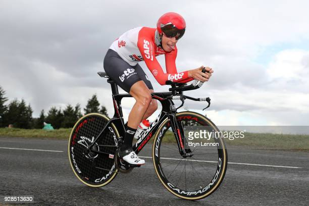 Lars Bak of Denmark and Lotto Soudal during the 76th Paris - Nice 2018 / Stage 4 an Individual Time Trial of 18,4km from La Fouillouse to...