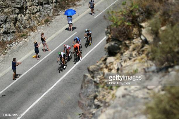 Lars Bak of Denmark and Team Dimension Data / Stephane Rossetto of France and Team Cofidis Solutions Credits / Paul Ourselin of France and Team Total...