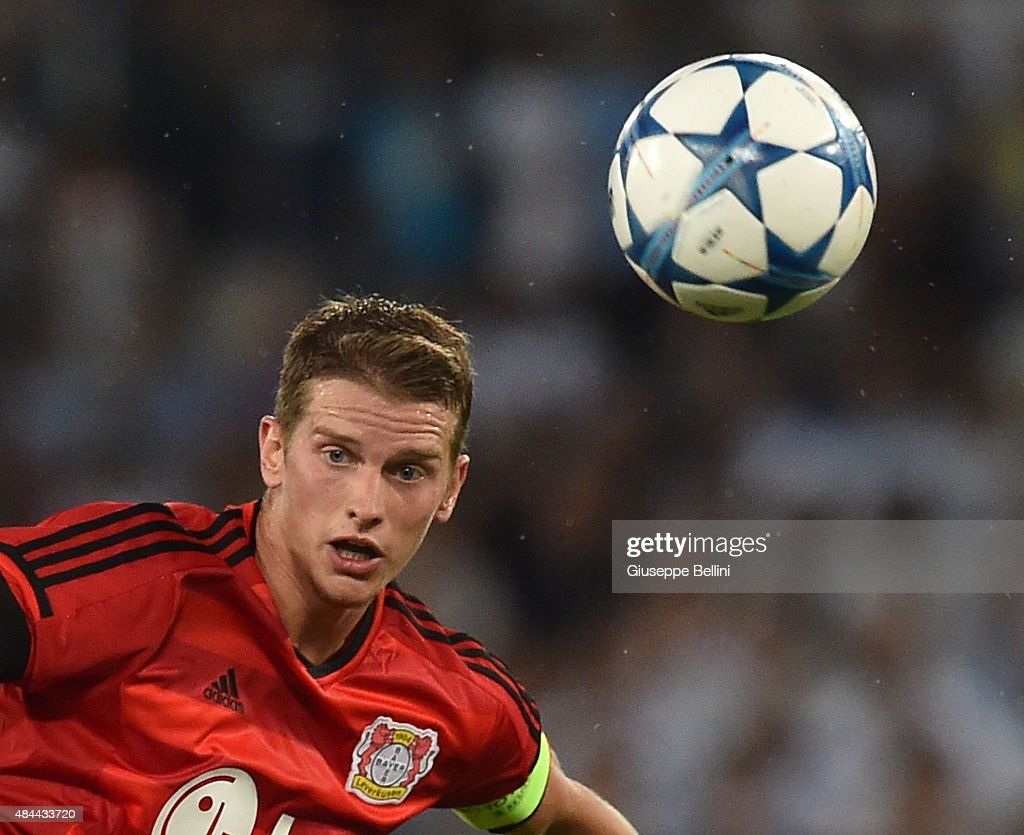 SS Lazio v Bayer Leverkusen - UEFA Champions League: Qualifying Round Play Off First Leg : News Photo