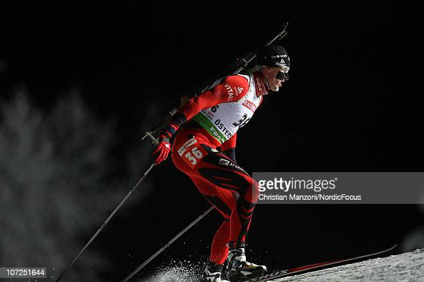 Lars Berger of Norway competes during the men's individual in the IBU Biathlon World Cup on December 02 2010 in Ostersund Sweden