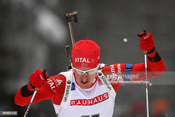 Lars Berger of Norway competes during the men's sprint in the eon Ruhrgas IBU Biathlon World Cup on January 09 2010 in Oberhof Germany