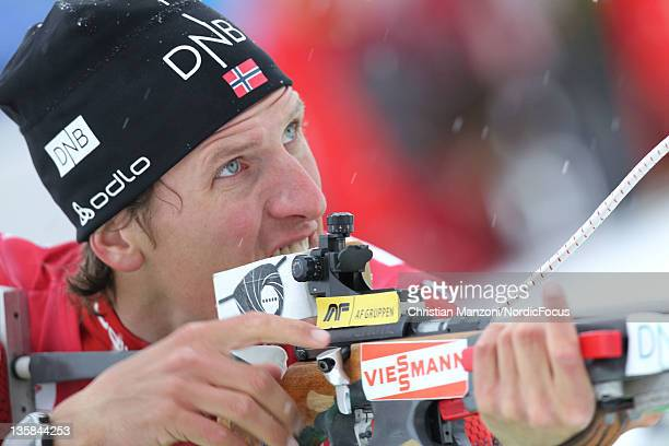 Lars Berger of Norway competes in the men's 10km sprint during the IBU Biathlon World Cup on December 15 2011 in Hochfilzen Austria