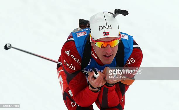 Lars Berger of Norway competes in the men's 10km sprint event during the IBU Biathlon World Cup on December 6 2013 in Hochfilzen Austria