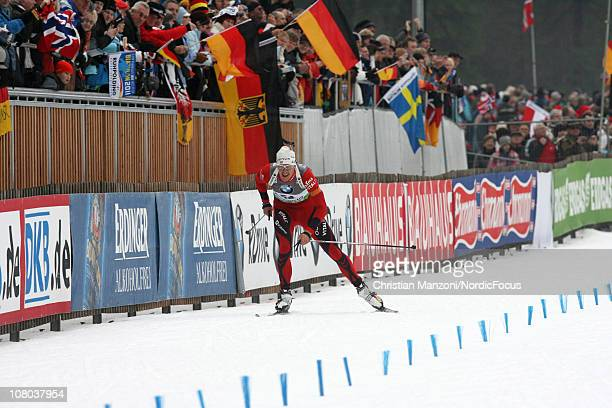 Lars Berger of Norway competes in the men's sprint during the EON IBU World Cup Biathlon on January 14 2011 in Ruhpolding Germany