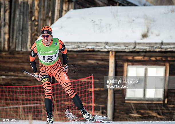 Lars Berger of Norway during 15 km free Norwegian Championship Cross Country on January 29 2015 in Roros Norway