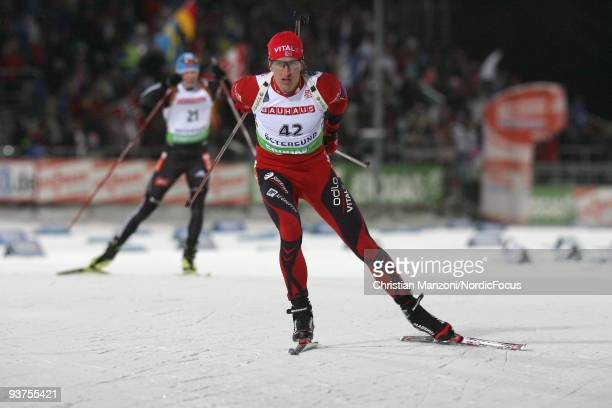 Lars Berger of Norway during the Men's 20 km Individual event in the EON Ruhrgas IBU Biathlon World Cup on December 3 2009 in Ostersund Sweden