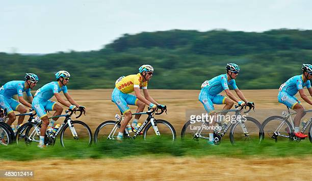 Lars Boom and Jakob Fuglsang of Team Astana in action during stage 2 of the 2015 Tour of Denmark a 235km stage from Ringkobing to Aarhus on August 5...