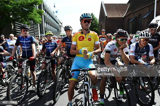 Lars Boom of Team Astana looks on prior to stage 3 of the 2015 Tour of Denmark a 185km stage from Vejle to Vejle on August 6 2015 in Vejle Denmark