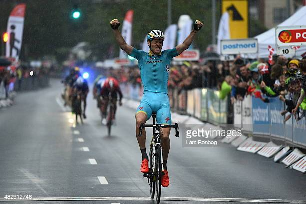 Lars Boom of Team Astana wins Stage 1 of the 2015 Tour of Denmark a 180km stage from Struer to Holstebro on August 4 2015 in Holstebro Denmark