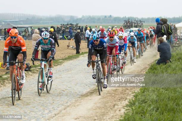 Lars Boom of The Netherlands from team Roomport-Charles during the 117th Paris-Roubaix on April 14, 2019 in Roubaix, France.