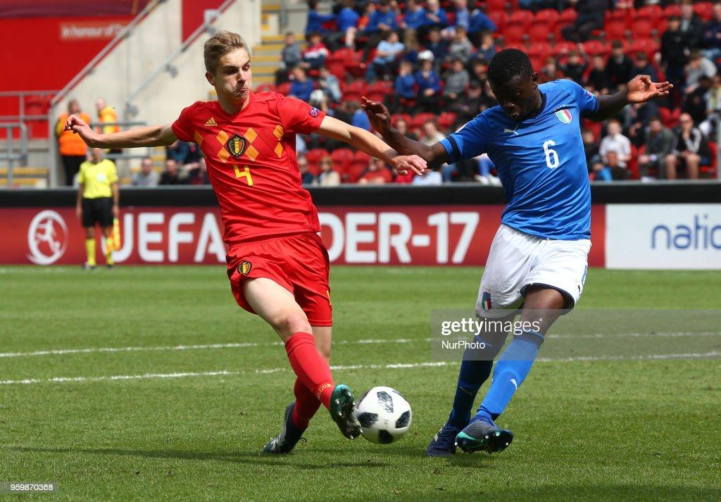 Italy v Belgium - UEFA U17 Championship Semi-Final : News Photo