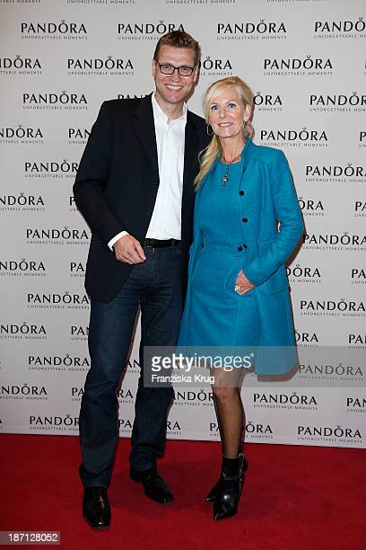 Lars Eckart and Marion Vedder attend the Pandora Essence Collection Launch at Europa Passage on November 06 2013 in Hamburg Germany